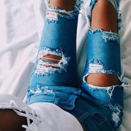 Рваные джинсы. Как это?