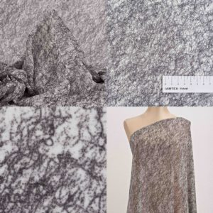 Ткань шифон черно-белый принт