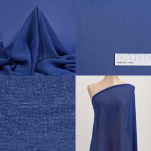 Ткань шифон синий