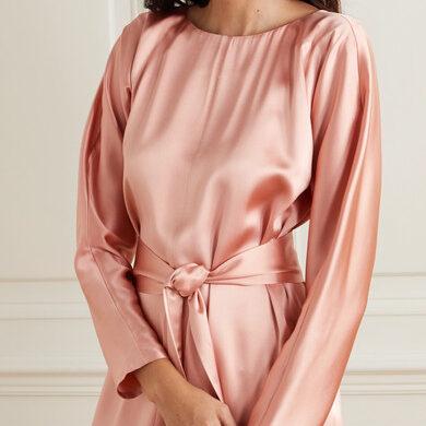 Атласная ткань для свадебных и вечерних платьев