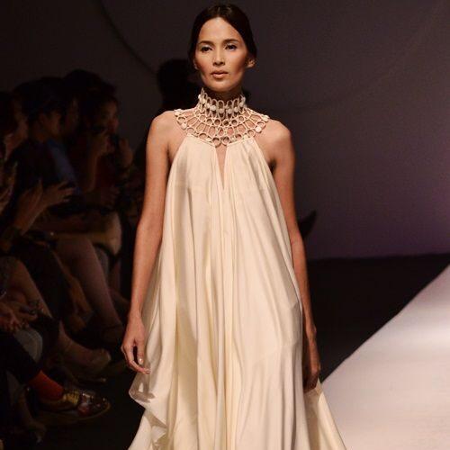 Ткань для вечернего платья в греческом стиле