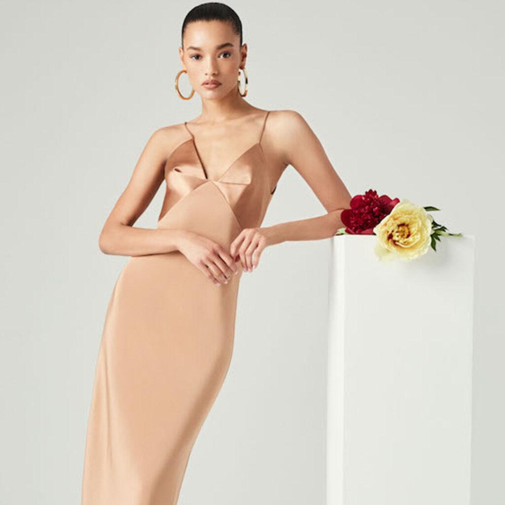 Ткань для вечернего платья – миди