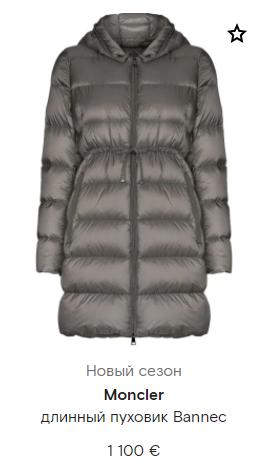 Серая куртка moncler
