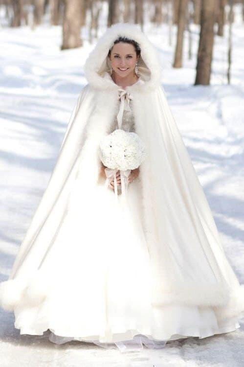 Экомех для свадебных манто с капюшоном