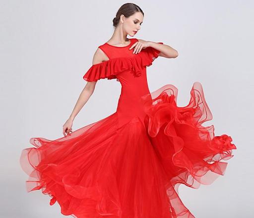 бальное платье из ткани
