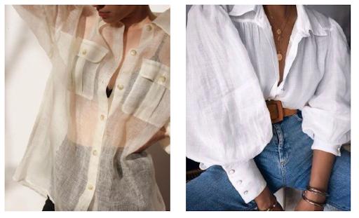 рубашки из льна женские